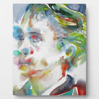 leopold von sacher masoch - watercolor portrait plaque
