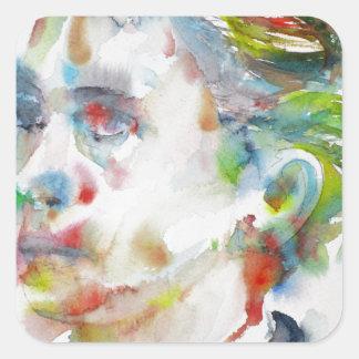 leopold von sacher masoch - watercolor portrait square sticker