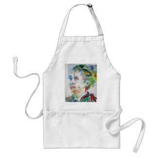 leopold von sacher masoch - watercolor portrait standard apron