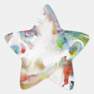 leopold von sacher masoch - watercolor portrait star sticker