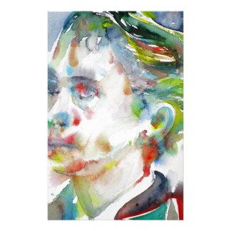 leopold von sacher masoch - watercolor portrait stationery