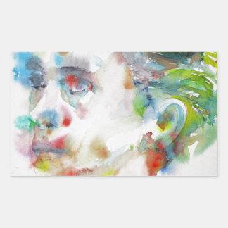 leopold von sacher masoch - watercolor portrait sticker