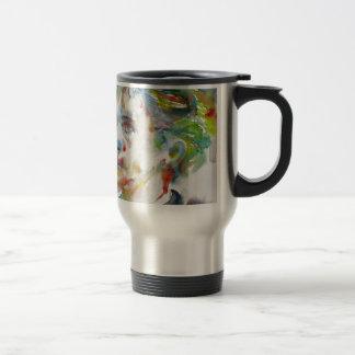 leopold von sacher masoch - watercolor portrait travel mug