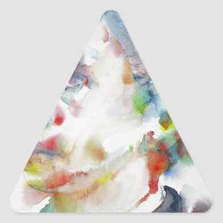 leopold von sacher masoch - watercolor portrait triangle sticker