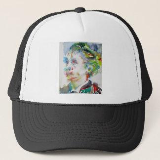 leopold von sacher masoch - watercolor portrait trucker hat
