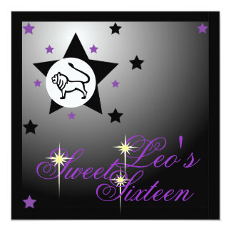 Leo's Zodiacal Fortune Sweet Sixteen-Customize Card