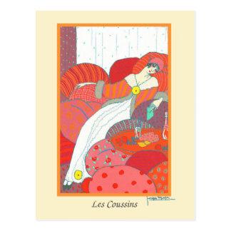 Lepape Vintage Art Deco Fashion Les Coussins Postcard
