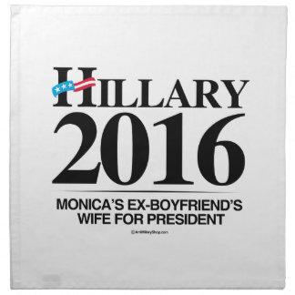 L'épouse des ex-amis de Monica pour le président Serviette Imprimée
