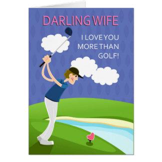 L'épouse, Saint-Valentin, avec le golfeur, vous Carte De Vœux