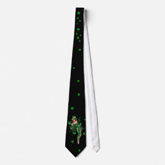 LEPPRECHAN GIRL  AND SHAMROCKS TIE