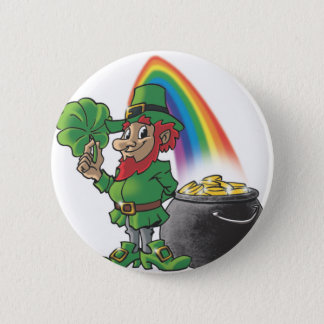 Leprechaun 2 Inch Round Button