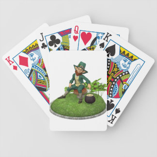 Leprechaun and His Gold Bicycle Playing Cards