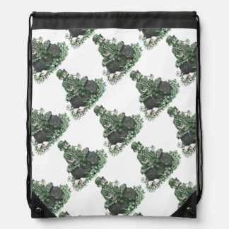 Leprechaun and Pot of Gold Drawstring Bag