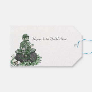 Leprechaun and Pot of Gold Gift Tags