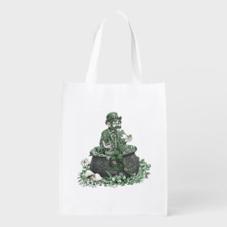 Leprechaun and Pot of Gold Market Tote