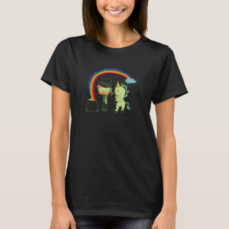 Leprechaun and Unicorn St. Patrick's Day Tee