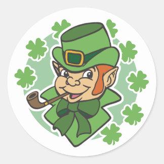 Leprechaun Cartoon St. Patrick's Day Classic Round Sticker