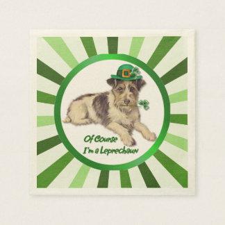 Leprechaun Dog Paper Napkins