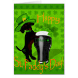 Leprechaun Doxie Greeting Card
