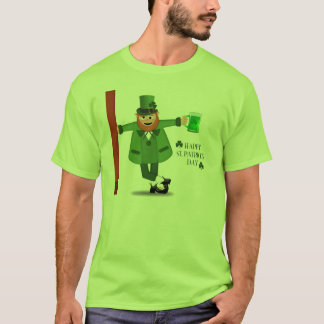 Leprechaun Drinking Green Beer T-Shirt