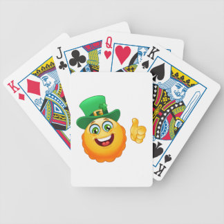 leprechaun emoji bicycle playing cards