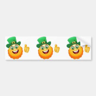leprechaun emoji bumper sticker