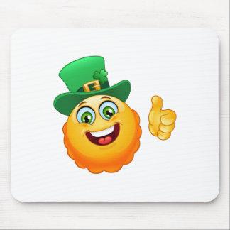 leprechaun emoji mouse pad