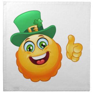leprechaun emoji napkin