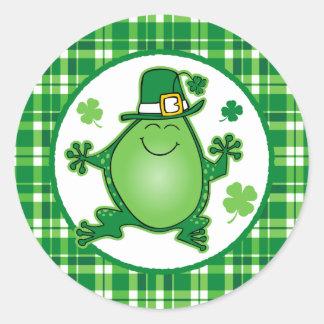 Leprechaun Frog Sticker