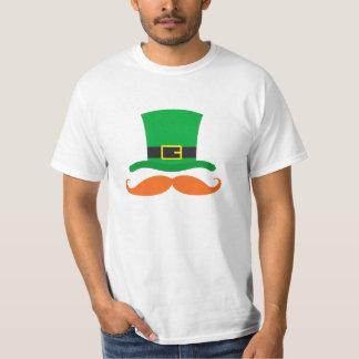 Leprechaun hat funny mustache St Patrick's day Tee Shirt