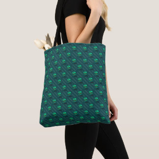 Leprechaun Hat & Shamrock St Patricks Day Pattern Tote Bag