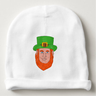 Leprechaun Head Front Drawing Baby Beanie