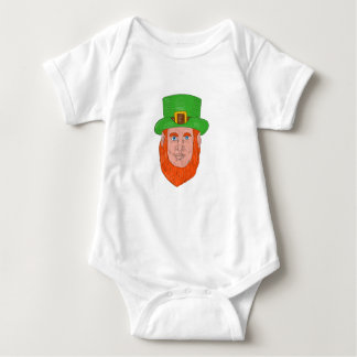 Leprechaun Head Front Drawing Baby Bodysuit