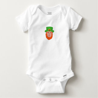 Leprechaun Head Front Drawing Baby Onesie