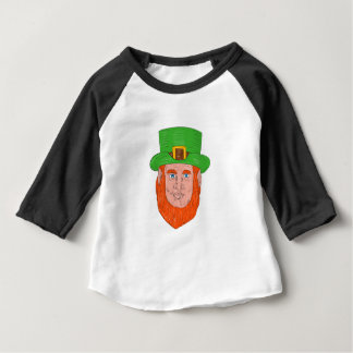 Leprechaun Head Front Drawing Baby T-Shirt