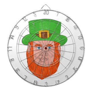 Leprechaun Head Front Drawing Dartboard