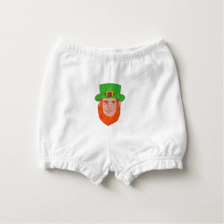 Leprechaun Head Front Drawing Diaper Cover