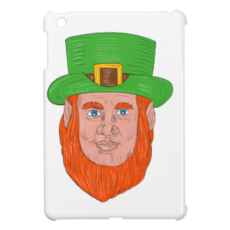 Leprechaun Head Front Drawing iPad Mini Cover