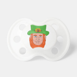 Leprechaun Head Front Drawing Pacifier