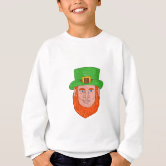 Leprechaun Head Front Drawing Sweatshirt