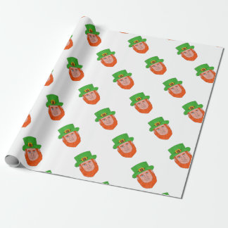 Leprechaun Head Front Drawing Wrapping Paper