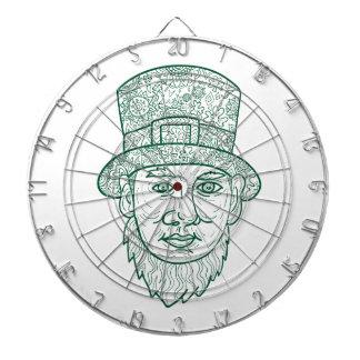 Leprechaun Head Front Mandala Dartboard