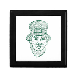 Leprechaun Head Front Mandala Gift Box