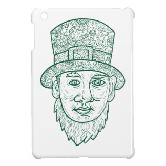 Leprechaun Head Front Mandala iPad Mini Cases