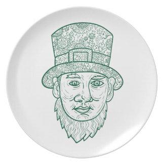 Leprechaun Head Front Mandala Plate