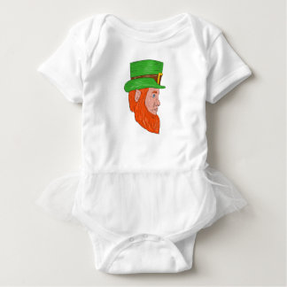 Leprechaun Head Side Drawing Baby Bodysuit
