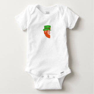 Leprechaun Head Side Drawing Baby Onesie
