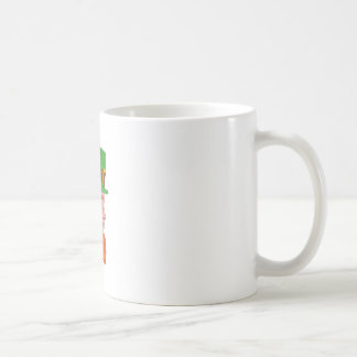 Leprechaun Head Side Drawing Coffee Mug