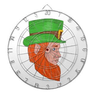 Leprechaun Head Side Drawing Dartboard