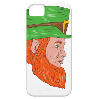 Leprechaun Head Side Drawing iPhone 5 Cases